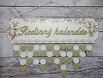 Dekorácie - Rodinný kalendár - 12476495_