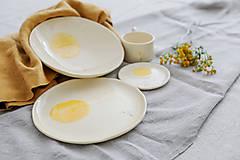 Nádoby - keramický tanier púpava - 12478695_