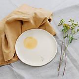 Nádoby - keramický tanier púpava - 12478697_