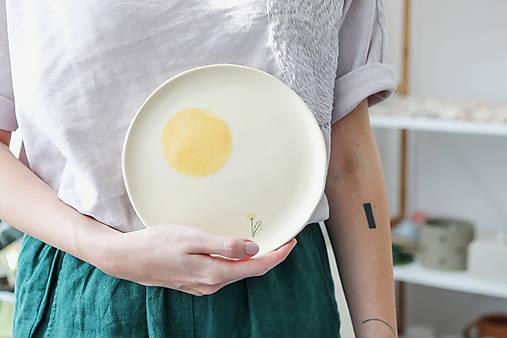 keramický tanier púpava