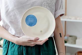 Nádoby - keramický tanier čučoriedka - 12478710_