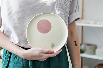 Nádoby - keramický tanier ďatelina - 12478721_