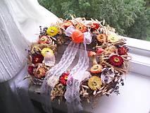 Dekorácie - Prírodný jesenný veniec na dvere ... s vôňou jesene ... - 12476815_