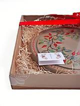 Nádoby - Podnos so šípkami - darčekové balenie (jeseň) - 12477712_