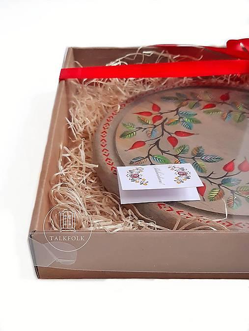 Podnos so šípkami - darčekové balenie (jeseň)