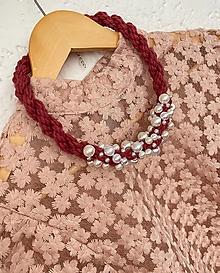 Náhrdelníky - Růžový pošitý perlami - 12478223_