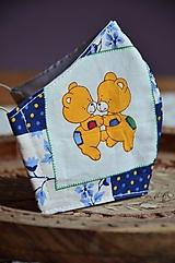 Detské doplnky - Detské rúško na tvár (Modrá macko, tanec) - 12476742_