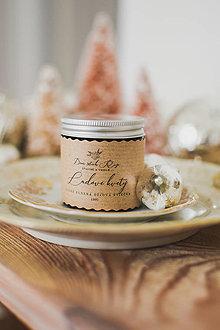 """Svietidlá a sviečky - Vianočná sójová sviečka """"Ľadové kvety"""" - 12476361_"""