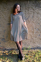 Šaty - šaty KLÁRY- proužkované s kapsami - 12478524_