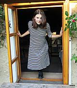 Šaty - šaty KLÁRY- proužkované s kapsami - 12478530_