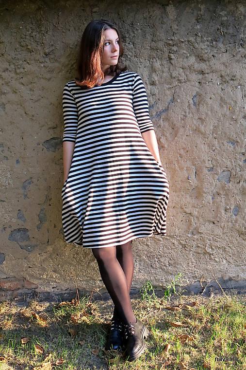 šaty KLÁRY- proužkované s kapsami