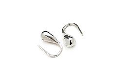 Náušnice - Jemné stříbrné náušnice-kapky Nonna - 12476702_