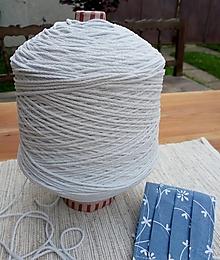 Galantéria - Guľatá gumička Ø2,5 mm - mäkká jemná - biela off - 12476866_