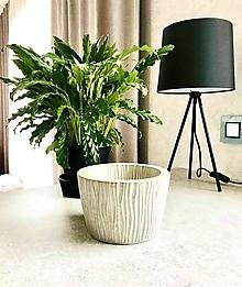 """Dekorácie - Betónový kvetináč pre izbové rastliny """"Loft&Leaf"""" veľ.M - 12476451_"""