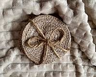 Úžitkový textil - Podložky pod poháre - 12478448_