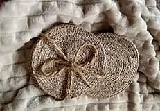 Úžitkový textil - Podložky pod poháre - 12478449_