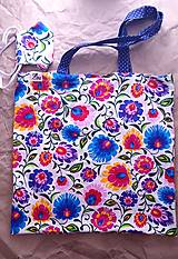 Nákupné tašky - Set nákupnej tašky a rúška - 12478656_