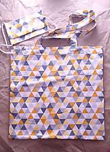 Nákupné tašky - Set nákupnej tašky a rúška - 12478728_