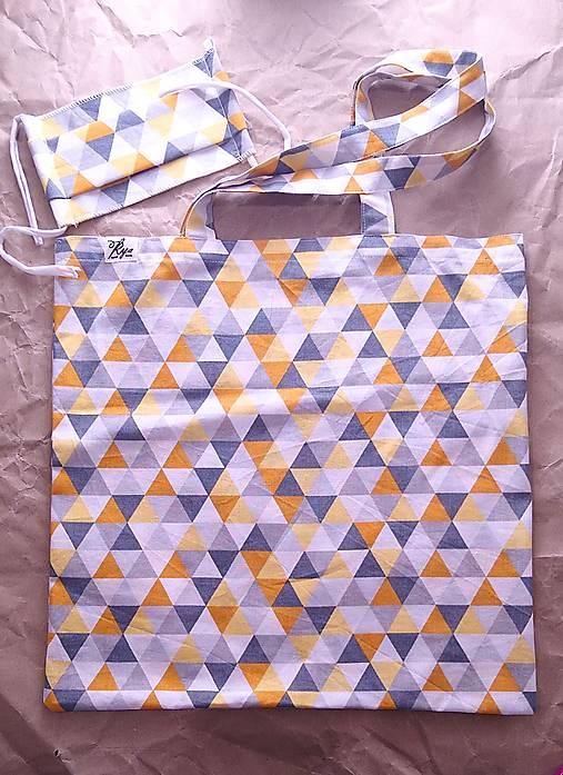 Set nákupnej tašky a rúška