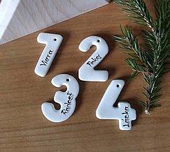 Dekorácie - Čísla na adventné sviečky - 12475242_