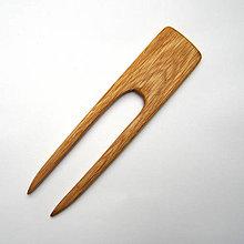 Ozdoby do vlasov - Drevená ihlica do vlasov - dubová - 12476151_