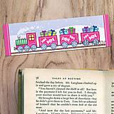 Papiernictvo - Vianočné záložky do knižky - vianočný vláčik (salónky) - 12477867_