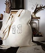 Nákupné tašky - Béžová taška 2xTorzo - 12480145_