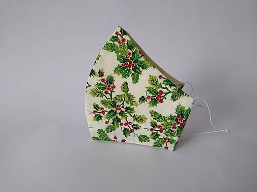 Dizajnové rúško cezmína vianočné tvarované dvojvrstvové