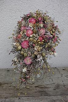 Kytice pre nevestu - Svadobná kytica zo sušených kvetov - 12482885_