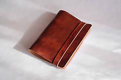 Papiernictvo - Hnedý kožený ksrisblok / zápisník A6, A5 - 12479415_