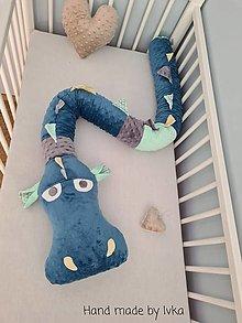 Textil - Valec - mantinel pre deti -  DRAK - 12480438_