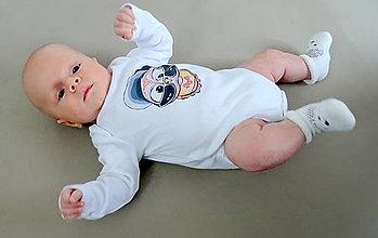 Detské oblečenie - Detské bavlnené body dlhý rukáv - OčiPuči Baby Čiko - 12482116_