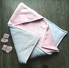 Textil - Teplá deka do zavinovačky, rôzne farby - 12483948_