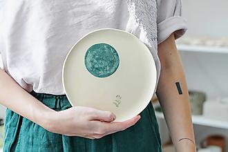 Nádoby - keramický tanier rebríček - 12481900_