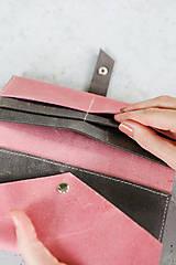 Peňaženky - kožená peňaženka_craft - 12481912_