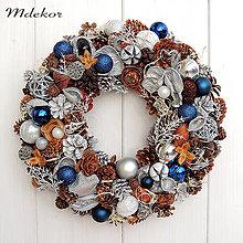 Dekorácie - Ľadový vianočný veniec - 12479205_
