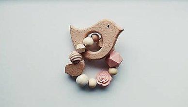 Hračky - Hryzátko - vtáčik - 12482962_
