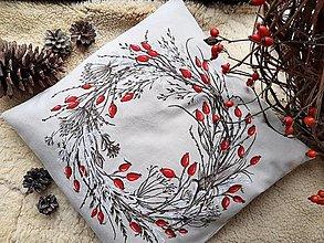Úžitkový textil - Veniec šípky a trávy - 12482552_