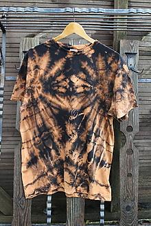 Tričká - Tričko _T-shirt_batik_XL_uni_black_cotton - 12481445_