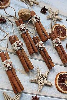 Dekorácie - Vianočná ozdoba-škoricové drievko - 12479803_