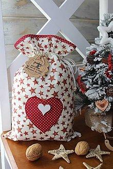 Úžitkový textil - Mikulášske vrecúško - 12480850_