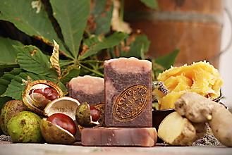 Drogéria - Gaštanové mydlo so zázvorom a lanolínom - 12479076_