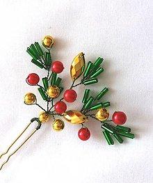 Ozdoby do vlasov - Vianočná vlásenka - 12481475_