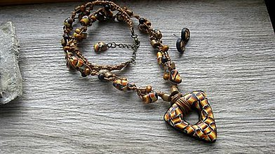Sady šperkov - Sada mozaiková náhrdelník + náušnice ORIGINAL, č. 3293 - 12479692_