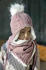 Šály - Nákrčník vrkoče fleece lamb - 12478772_