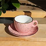 Nádoby - Šálka na cappuccino s podšálkou ružová - 12479496_