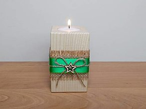Svietidlá a sviečky - Vianočný svietnik 🎄 - 12482523_