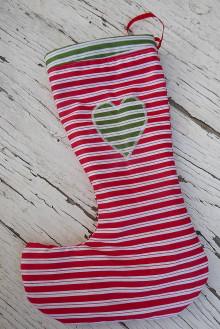 Dekorácie - Červená vianočná čižma - 12481960_
