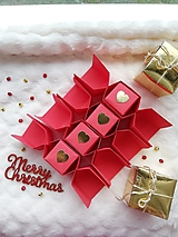 Krabičky - Origami vianočné salonky - 12480172_