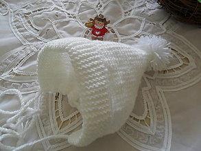 Detské čiapky - Čiapočka biela. - 12479744_